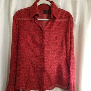 INC.  Red blouse